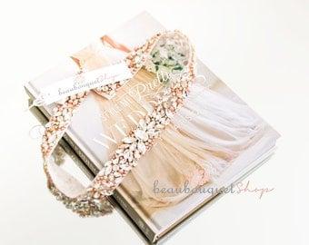 "Bridal Sash Wedding Accessories Belts and Sashes Swarovski Rhinestone Bridal Belt Wedding Belt Rose Gold Wedding Dress Rhinestone Sash 24"""