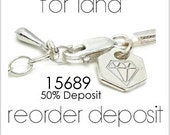 Customized hexagon shaped metal tag Reorder, Project 15689 For Lana, 50% deposit.