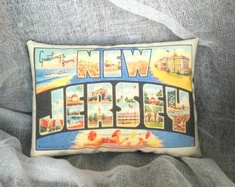 Greetings from | Post card series | State pillow | Vacation memorabilia | State post card