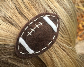 Football Felt Hair Clip