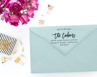 Custom Return Address Stamp - Self Inking Rubber Stamp - Custom Stamp - We've Moved - Personalized Rubber Stamp - Return Address Stamp