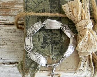 Spoon Bracelet, Silver Spoon Handle Bracelet, Ornate Silverware Jewelry Bracelet, Repurposed Silverware Jewelry, Boho Chic Bracelet, Bangle
