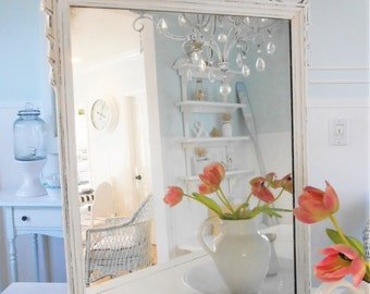 Mirror shabby chic painted furniture