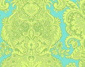 Amy Butler Love Sandlewood Turquoise Aqua Blue Lime Green Damask Fabric