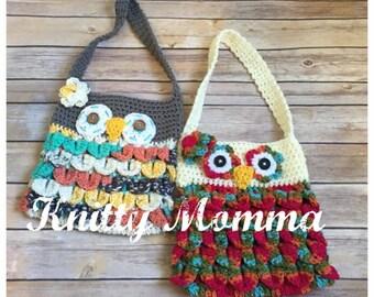 Owl Handbag Crochet Pattern Owl Purse Crochet Pattern