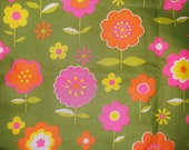 Vintage Flower Power Fabric • 2 yards X 44 inches