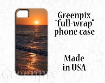 beach scene iphone 7 case, sunrise, surf, sand, ocean decor, New Jersey shore, waves, iPhone 6 Plus, 5, Galaxy S6, Galaxy S7, American made