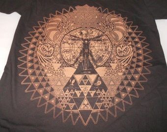 T-Shirt - Fractal of Self (Tan on Black)