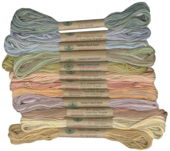 12 Valdani 6 Strand Floss Embroidery Thread By