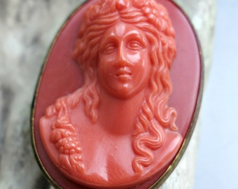 Victorian Celluloid Coral Buckle