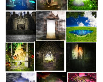 15 Fantasy 2A-Digital Immediate Download-ClipArt-Art Clip-Background-Flowers