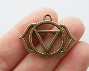 4 Chakra charms bronze tone BC95
