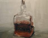 The Bottle Half Full, Giclee print of original oil painting