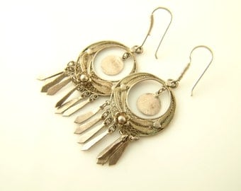 Gypsy Earrings - Silver - Vintage