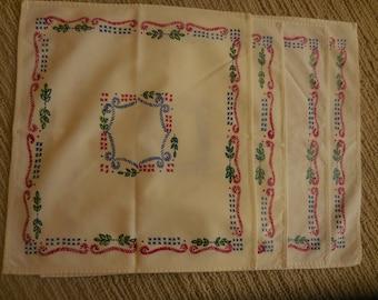 Four Vintage Napkins