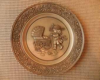 1980 Little Gallery Collectible Pewter Plate
