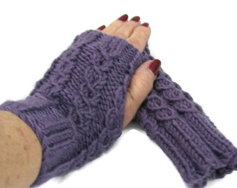 Fingerless Gloves, Knit Hand Warmers, Texting Gloves, Driving Gloves, Fingerless Mitts. Purple Gloves, Gray Gloves, Teal Gloves