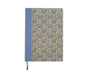 blue hardcover notebook, A5 blank writing journal