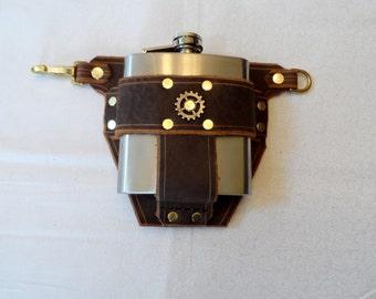 Slimline Belt System - BROWN FLASK PIECE