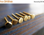 CIJ SALE - Nails. 14K Gold Unisex Single Stud Earring. Recycled Gold. Eco Friendly. Fine Jewelry. One Stud.