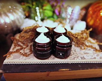 Mini Embalming Cream Set (4) 1 oz jar, Body Butter, Moisturizer, Lotion, Poison Apple Apothecary