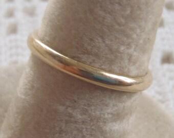 Vintage Wedding Band Ring 14K Yellow Gold Size 5 1/2