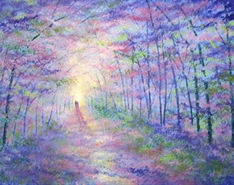 Forest Light limited edition giclee print on paper with mount