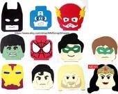 LEGO Superhero Head Party Decorations