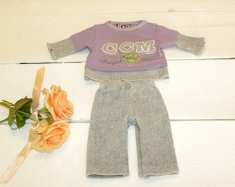 Grey and Mauve Sporty Outfit - 14 - 15 inch doll clothes