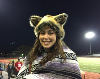 A Wolf Beanie, Adult and Child, Costume, Animal Hat, Wolf Hat, Wolf and Sheep, Wolf