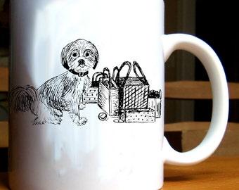 Shih Tzu Dog Shopping Mug