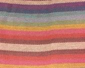 Ethnic Mexican Jerga Fabric Pink Rainbow
