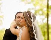 Bridal Crystal Headband, Wedding Rhinestone Headband, Vintage Style Oval Teardrop Crystal Cluster Bridal Hair Accessory  #122