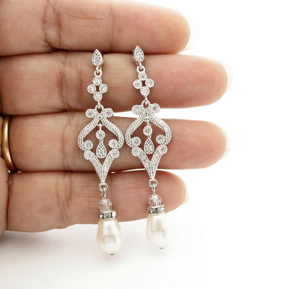 Pearl Necklace Styles: Pearl Wedding Jewelry Vintage Style Wedding By Poetryjewelry