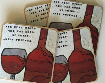 The Best Wine Coaster Set of 4