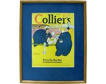Jay Irving Collier's Cover Illustration Framed 1939