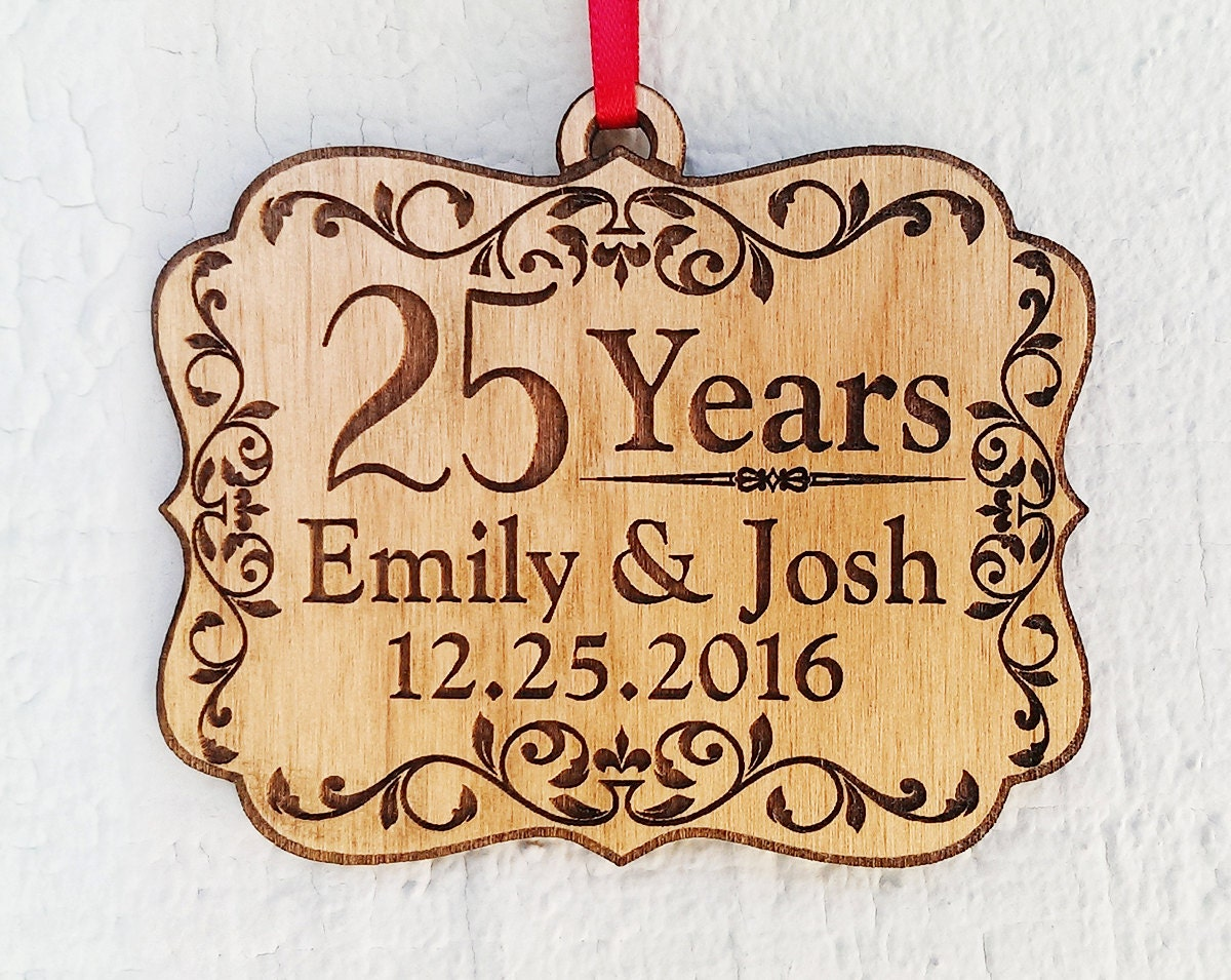 Gifts For 30th Wedding Anniversary Couple: Personalized 25 Years Anniversary Parents Grandparents Wood