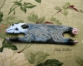 """Oppossum - 6"""" Wild Weaving Shuttle for Card Tablet Inkle Band or Backstrap Loom"""