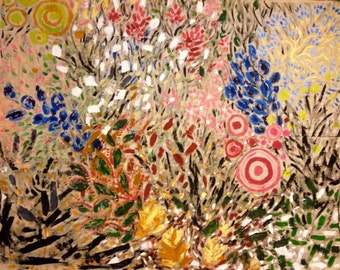 In the Garden 3 original painting by Katie Jurkiewicz