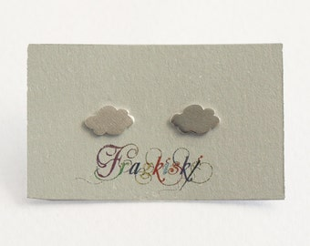 Clouds Silver Earrings