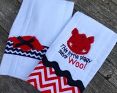 Baby Razorback Burp Cloths- set of 2