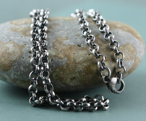 Heavy Sterling Silver Chain Necklace Mens Womens Unisex