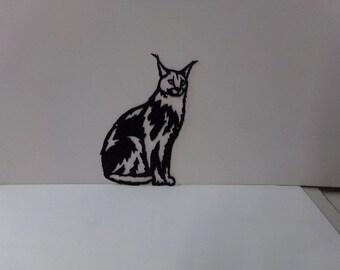Lynx Small Metal Cat Wall Art Silhouette