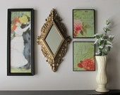 wall gallery - The Dance -  a 4 pc vintage  wall art collection - Boho Chic - romantic - eclectic