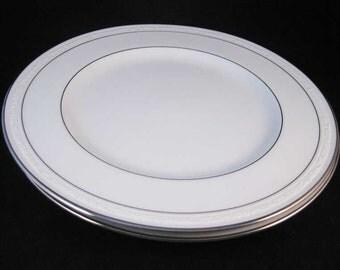 "Noritake ""Stoneleigh"" Porcelain Dinner Plates (2) Pattern #4062"