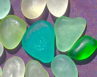 A-Sea Glass, Sea Glass of Hawaii! ULTRAVIOLET UV! HEARTS! 4 jewelry! Genuine Sea Glass!  Seaglass! Glows! Beach Glass! Bulk Sea Glass!