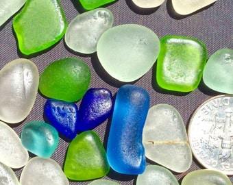 Sea Glass or Beach Glass from Hawaii Beaches  COBALT!  CORNFLOWER! SALE 38 dollars! Bulk Sea Glass! Mosaic Tiles! Cobalt Sea Glass!