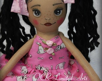 MARIANA child friendly Doll ooak Handmade cute Gift toy hand painted
