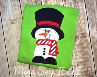 Boys Lime Snowman Shirt
