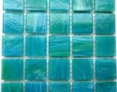 """20mm (3/4"""") in Türkis und grün marmoriert ABGESCHRÄGTE Glas-Mosaik-Fliesen / / Mosaik liefert / / Handwerk / / Mosaik"""